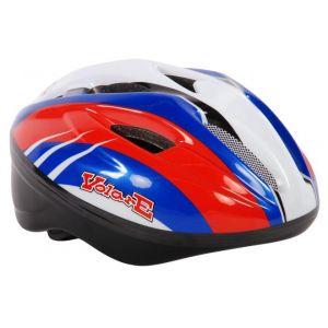 Volare casco da bicicletta Deluxe rosso blu bianco 51-55 cm