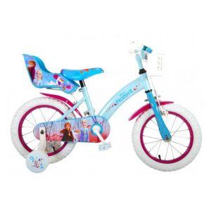Disney bicicletta per bambini Frozen 2 14 pollici blu / viola