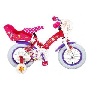 Disney bicicletta per bambini Minnie Bow-Tique 12 pollici rosa bianco 2 freni a mano