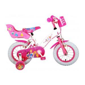 Disney bicicletta per bambini Principesse 12 pollici rosa due freni a mano