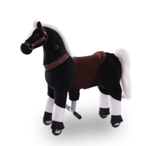 Kijana cavallo giocattolo da equitazione nero piccolo