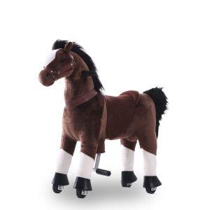 Cavallo giocattolo da equitazione marrone cioccolato grande