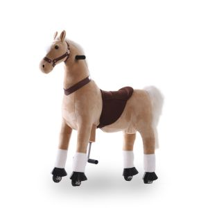 Kijana cavallo giocattolo da equitazione beige grande