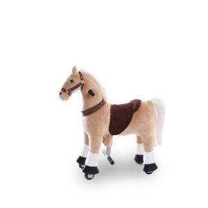Kijana cavallo giocattolo da equitazione beige piccolo