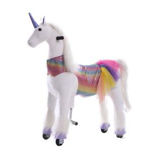 Kijana giocattolo per cavalcare unicorno Sunshine grande