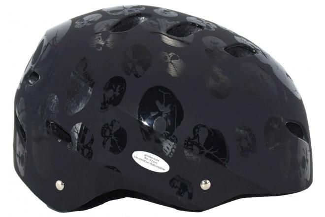 Volare casco da bicicletta / skate teschio 55-57 cm