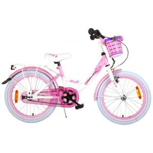 Volare bici per bambini 18 pollici bianco rosa assemblata al 95%