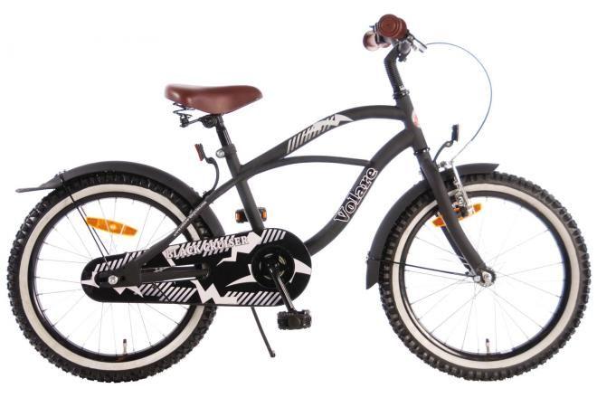 Volare bicicletta per bambini Black Cruiser ragazzi 18 pollici nera