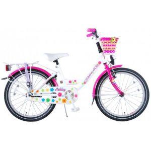 Volare bicicletta per bambini Ashley 20 pollici bianco / rosa assemblata al 95%
