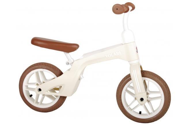 Volare bici senza pedali per ragazzi e ragazze 10 pollici crema