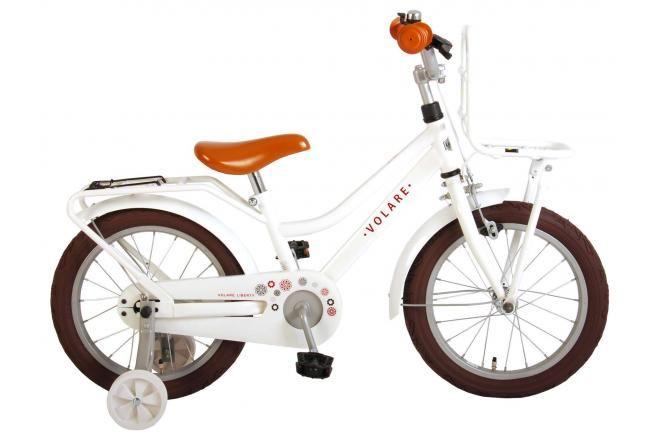 Volare bicicletta per bambini Liberty 16 pollici bianca assemblata al 95%