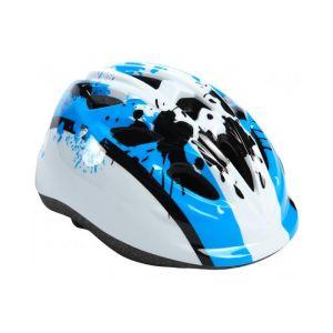 Volare casco da bicicletta per bambini XS blu bianco 47-51 cm modello extra piccolo