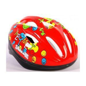 Volare casco da bicicletta Deluxe Smileys rosso 51-55 cm