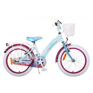Disney Frozen 2 bicicletta per bambini 18 pollici blu / viola 2 freni a mano