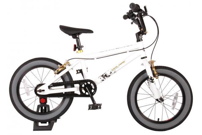 Volare bicicletta per bambini Cool Rider 16 pollici bianca due freni a mano assemblata al 95%