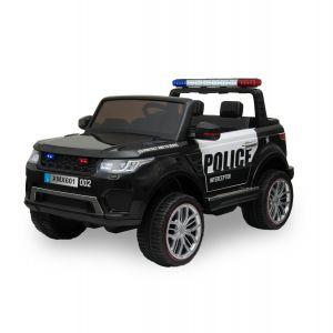 Kijana auto elettrica per bambini della polizia Ford Ranger style nera