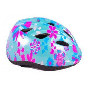 Volare casco da bicicletta per bambini XS fiori blu rosa 47-51 cm modello extra piccolo