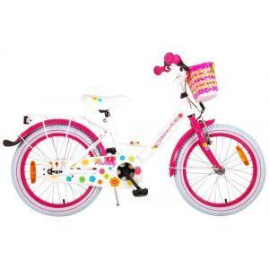 Volare bicicletta per bambini Ashley 18 pollici bianca assemblata al 95%