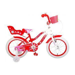Volare Lovely bella bicicletta per bambini 16 pollici rosso bianco 95% assemblata