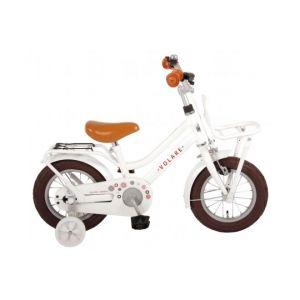 Volare bicicletta per bambini Liberty 12 pollici bianca assemblata al 95%