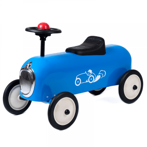 Baghera correndo auto da corsa blu
