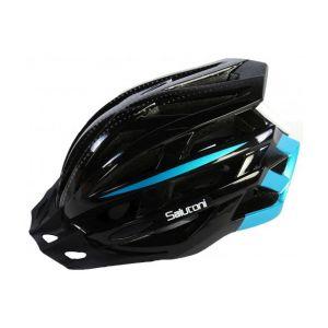 Salutoni casco per bicicletta da uomo nero blu 58-61 cm