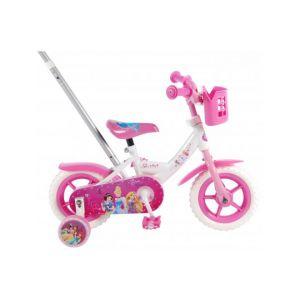 Disney bicicletta per bambini delle Principesse 10 pollici rosa / bianca