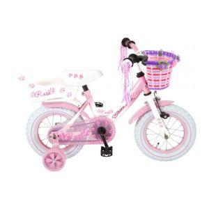 Volare bici per bambini 12 pollici rosa assemblata al 95%