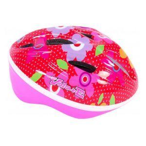 Volare casco da bicicletta Deluxe fiori rosa rossi 51-55 cm