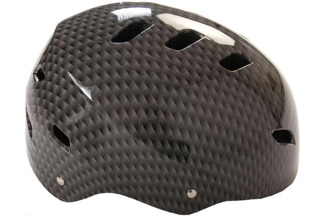 Casco bicicletta / skate grigio 55-57 cm