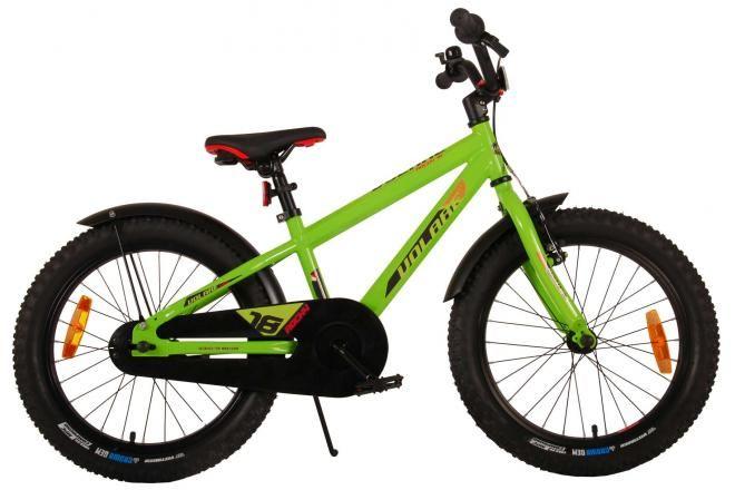 Volare bicicletta per bambini Rocky 18 pollici verde assemblata al 95% collezione Prime