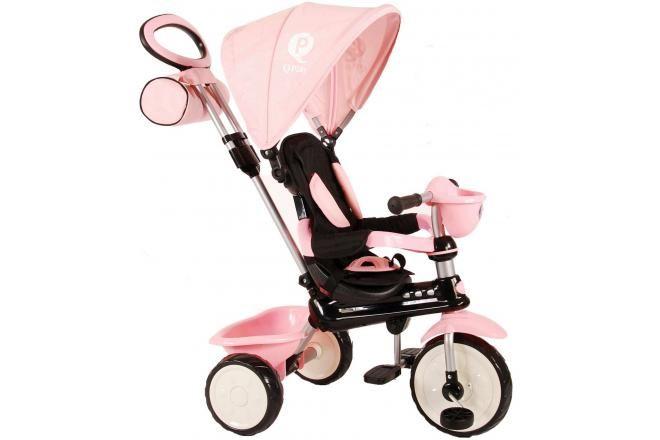 QPlay Triciclo Comfort 4 in 1 per bambina rosa
