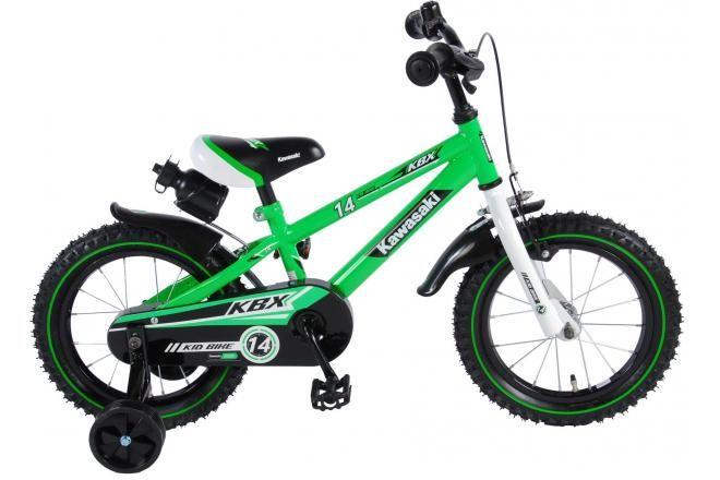 Kawasaki bicicletta per bambini 14 pollici verde assemblata al 95%