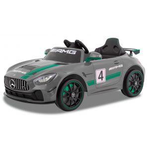 Mercedes auto elettrica per bambini GT4 grigio