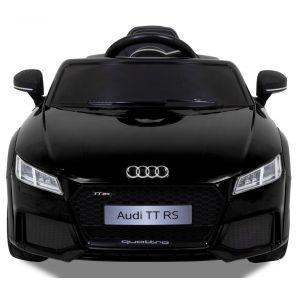 Audi TT RS kinderauto zwart vooraanzicht zijspiegels koplampen