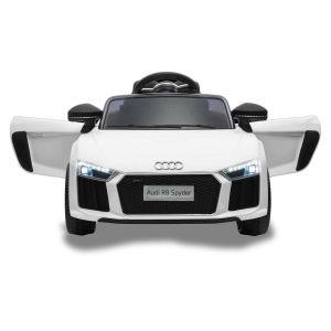 Auto elettrica per bambini Audi R8 cabriolet bianca