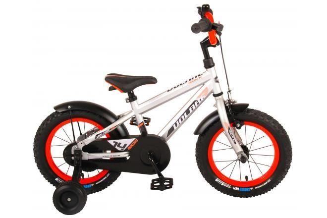 Volare bicicletta per bambini Rocky 14 pollici argento assemblata al 95% collezione Prime