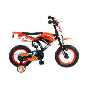 Volare motocicletta bicicletta per bambini 12 pollici arancione assemblata al 95%