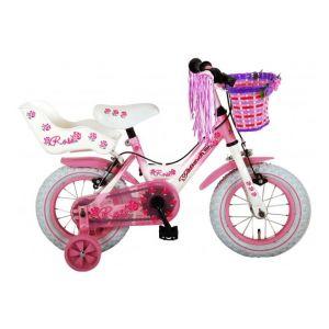 Volare bicicletta per bambini 12 pollici rosa 2 freni a mano