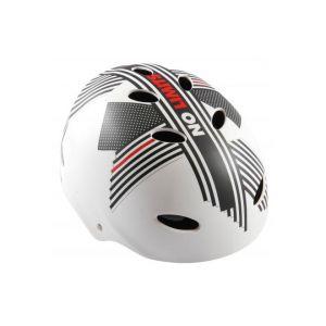 Volare casco da bicicletta no Limits bianco grigio rosso