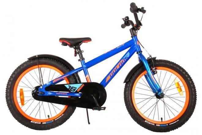 Volare bicicletta per bambini Rocky 18 pollici blu assemblata al 95% collezione prime