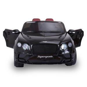 Bentley auto elettrica per bambini Continental Supersports nera