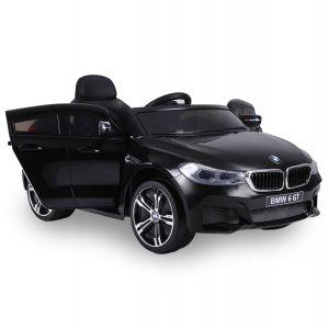BMW 6-Serie GT zwart vooraanzicht banden koplampen