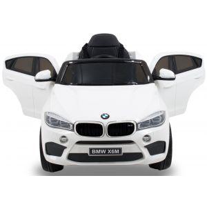 BMW X6 kinderauto wit voorkant koplampen deuren open zijspiegels