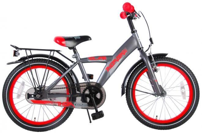 Volare bicicletta per bambini Thombike 18 pollici satin grigio rosso assemblata al 95%