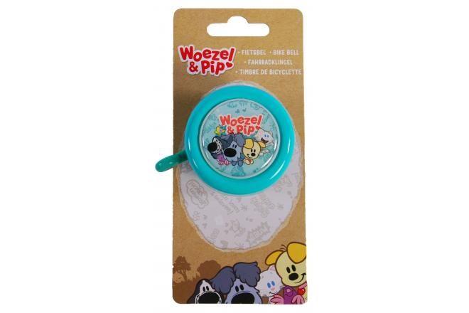Woezel & Pip campanello per bicicletta bambini blu menta