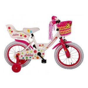 Volare bicicletta per bambini Ashley 14 pollici bianca assemblata al 95%