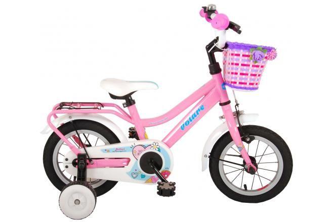 Volare brillante bicicletta per bambini 12 pollici rosa assemblata al 95%