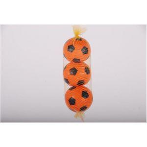 E&L sports - Tre palline di plastica arancioni in rete