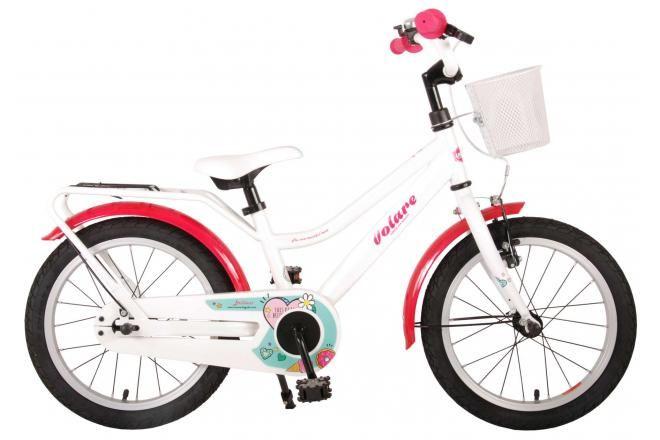 Volare brillante bicicletta per bambini 16 pollici bianca assemblata al 95%